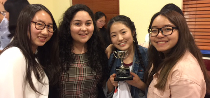 photo of First-Year Team winners, Language Performance Competition