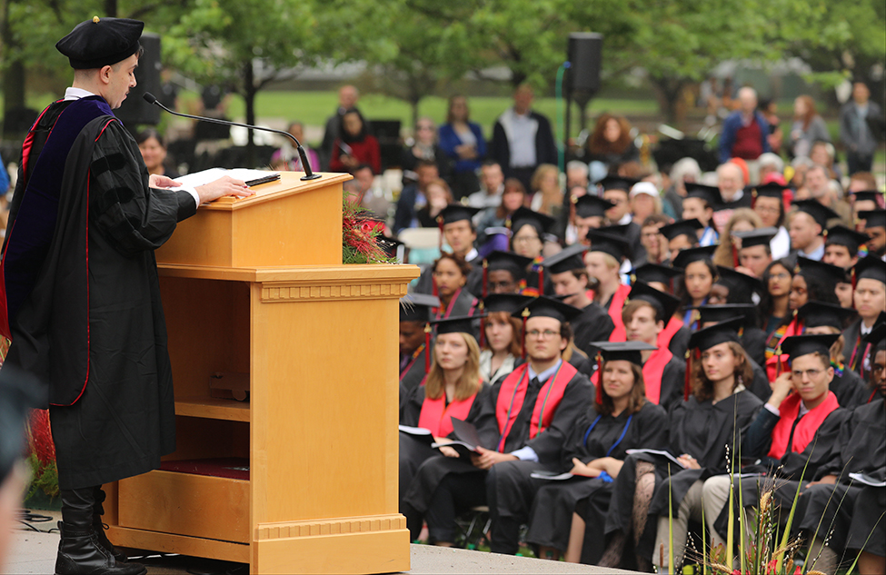 Chase makes honorary degree speech