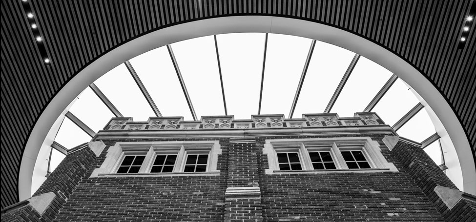 Detail of HSSC skylight and crenellations