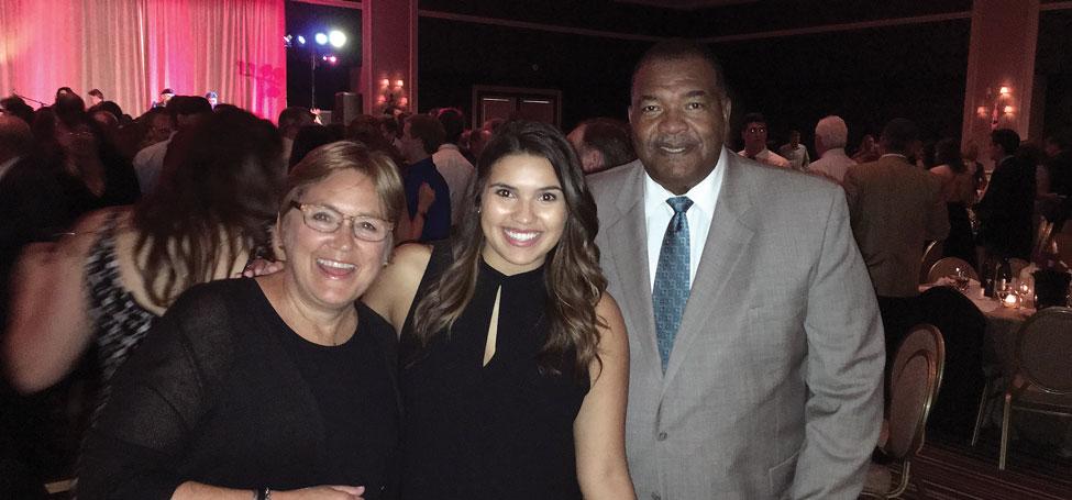 Becky, G. Barry Huff '73, and daughter, Halle