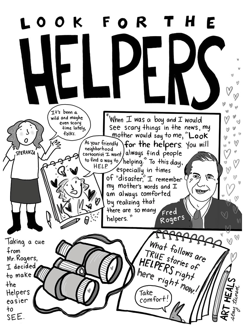 Helper's Mr. Rodgers cartoon