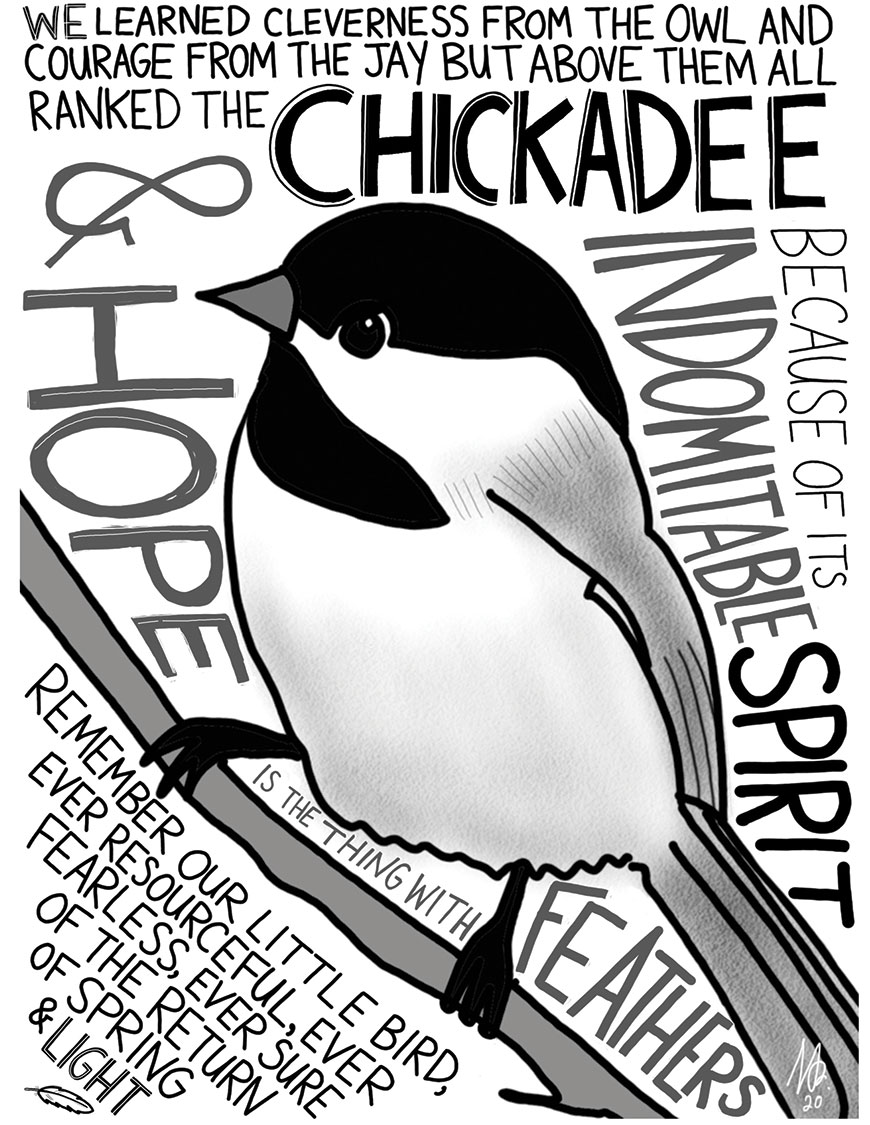 Helper's Chickadee cartoon