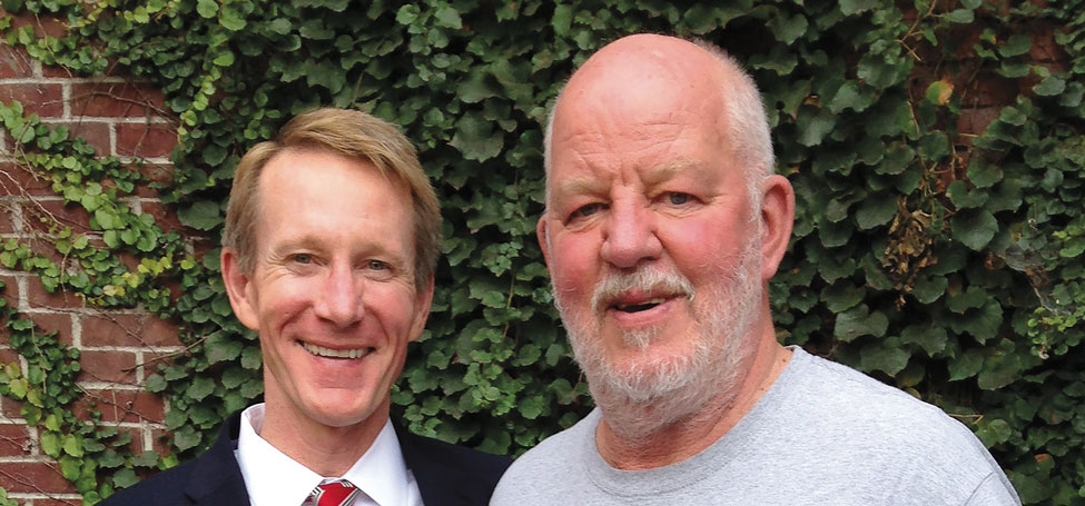 Bret Gifford P'23 (left) and Jeff Taft-Dick '73