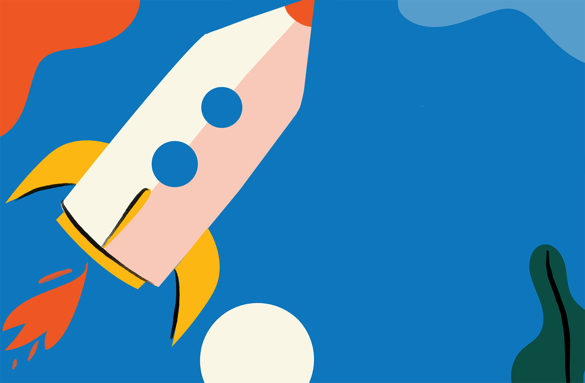 rocket ship illustration