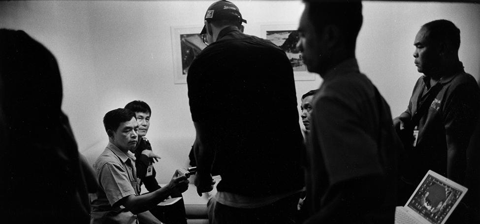 steve galster with thai police before raid on uzbek trafficking ring bangkok