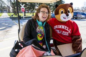 Scarlet and Give Back Day Golf Cart Ride