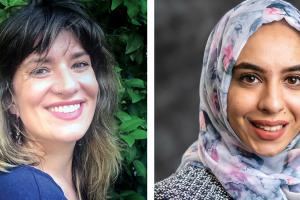 Kaitlin Alsofrom '10 (left) and Mariam Asaad '14