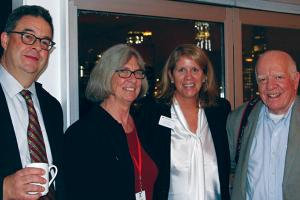 Don Pollard '81, Jeanne Pinder '75, Jaci Thiede, and Henry Wilhelm '68 in New York City