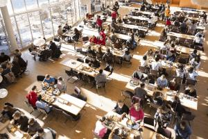 Dining Hall activity during the lunch hour
