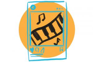 piano tablet icon