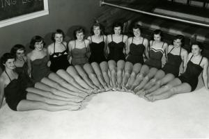 Grinnell's white caps pose for a picture