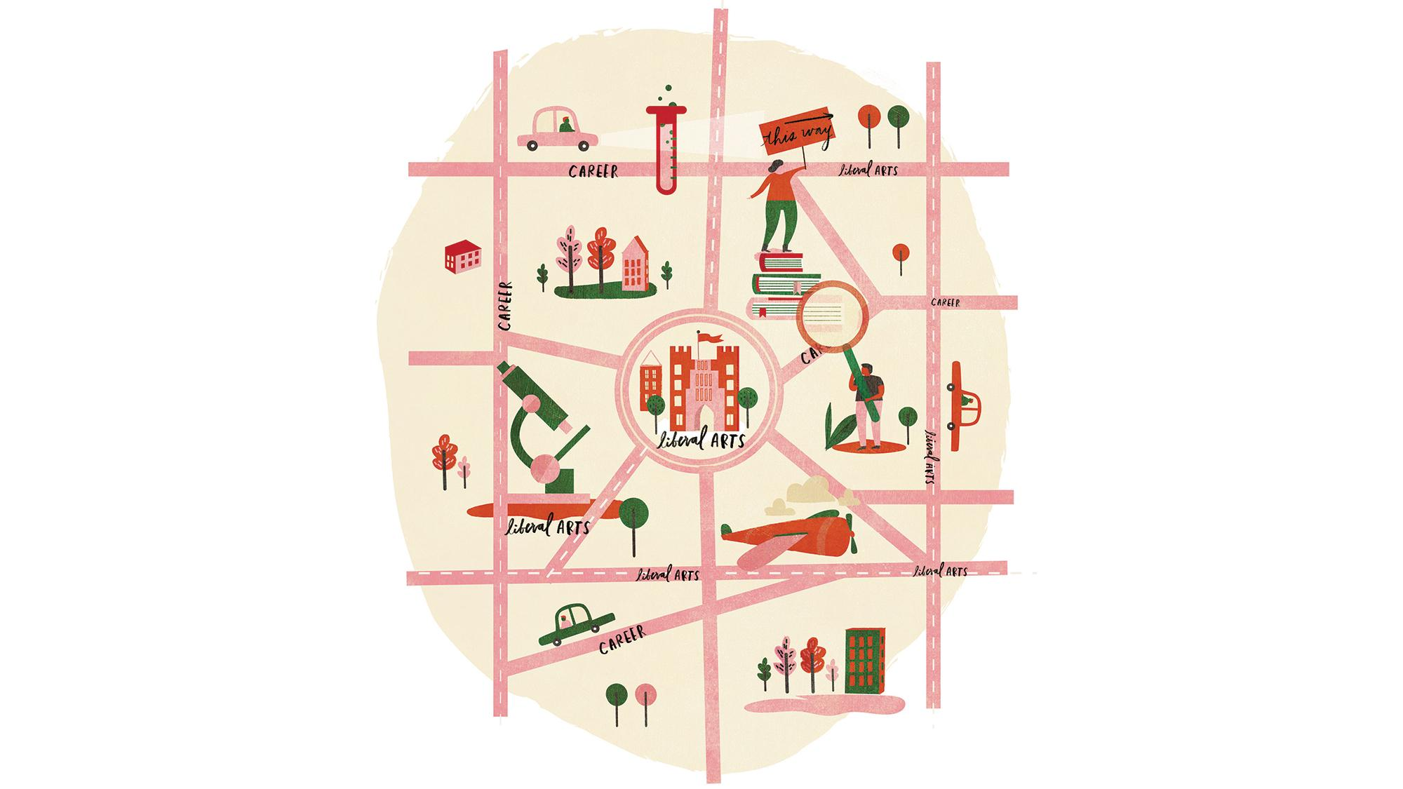 Liberal Arts Map Illustration