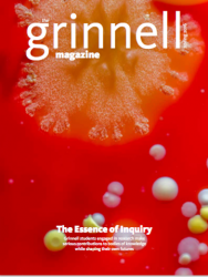 Cover of Spring 2016 Grinnell Magazine: close up of bacteria