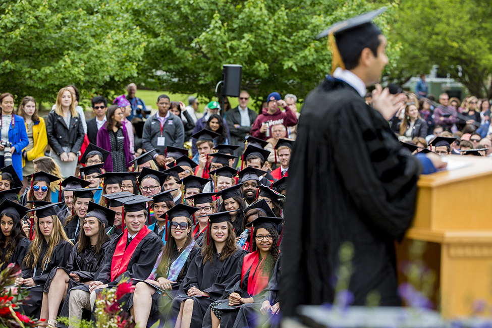 Class of 2017 listens to commencement speaker Kumail Nanjiani '01