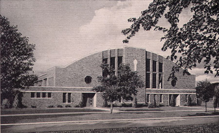 Exterior of Darby Gym from 8th Ave.