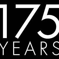 175 Years (white on black logo)