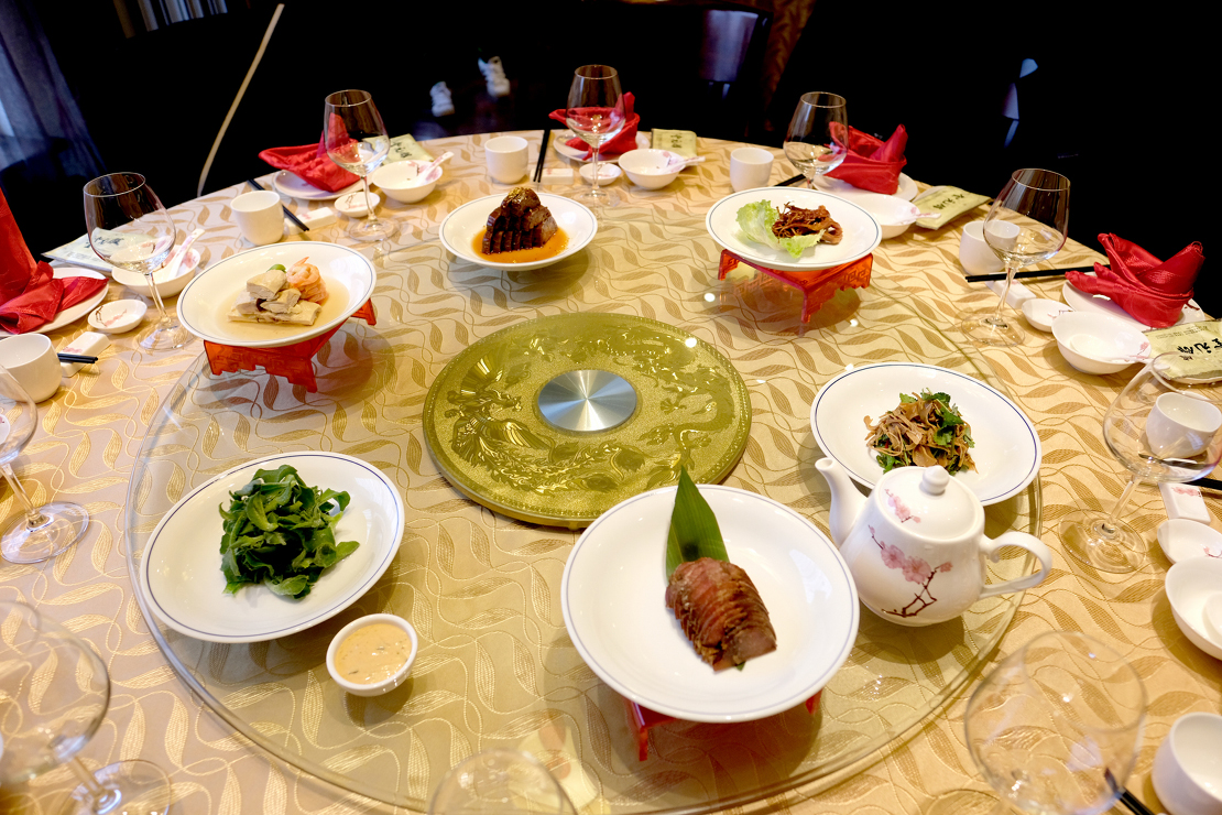 Family style meal in China