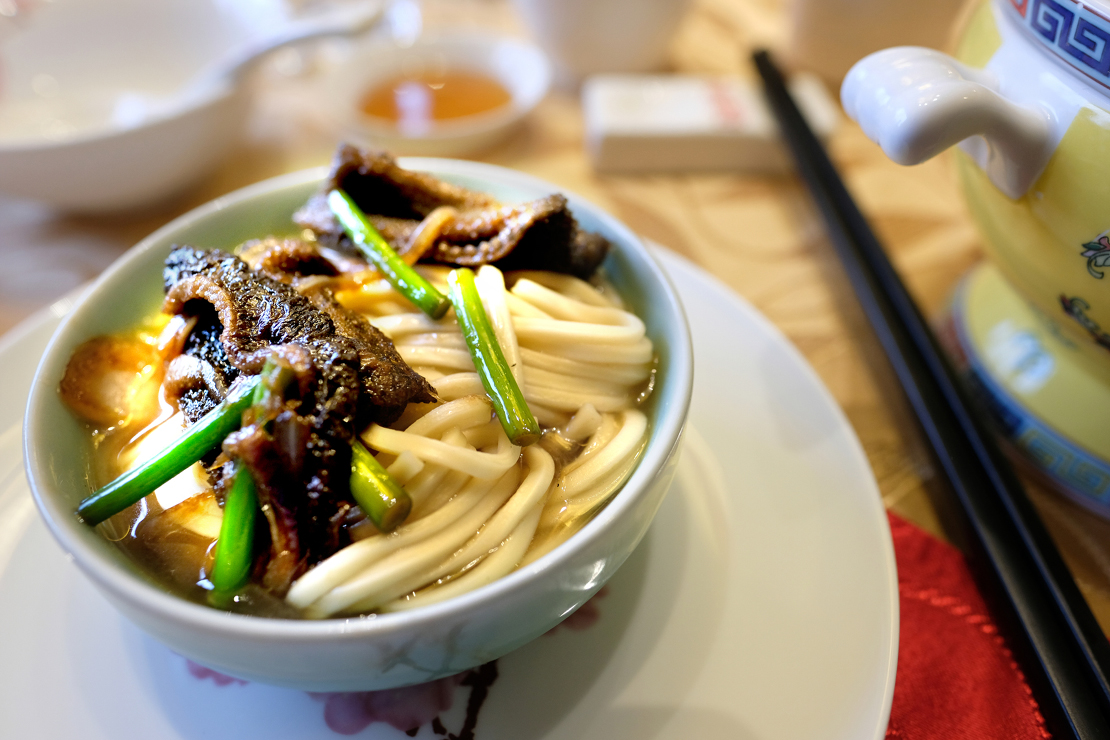 Noodles with fried eel