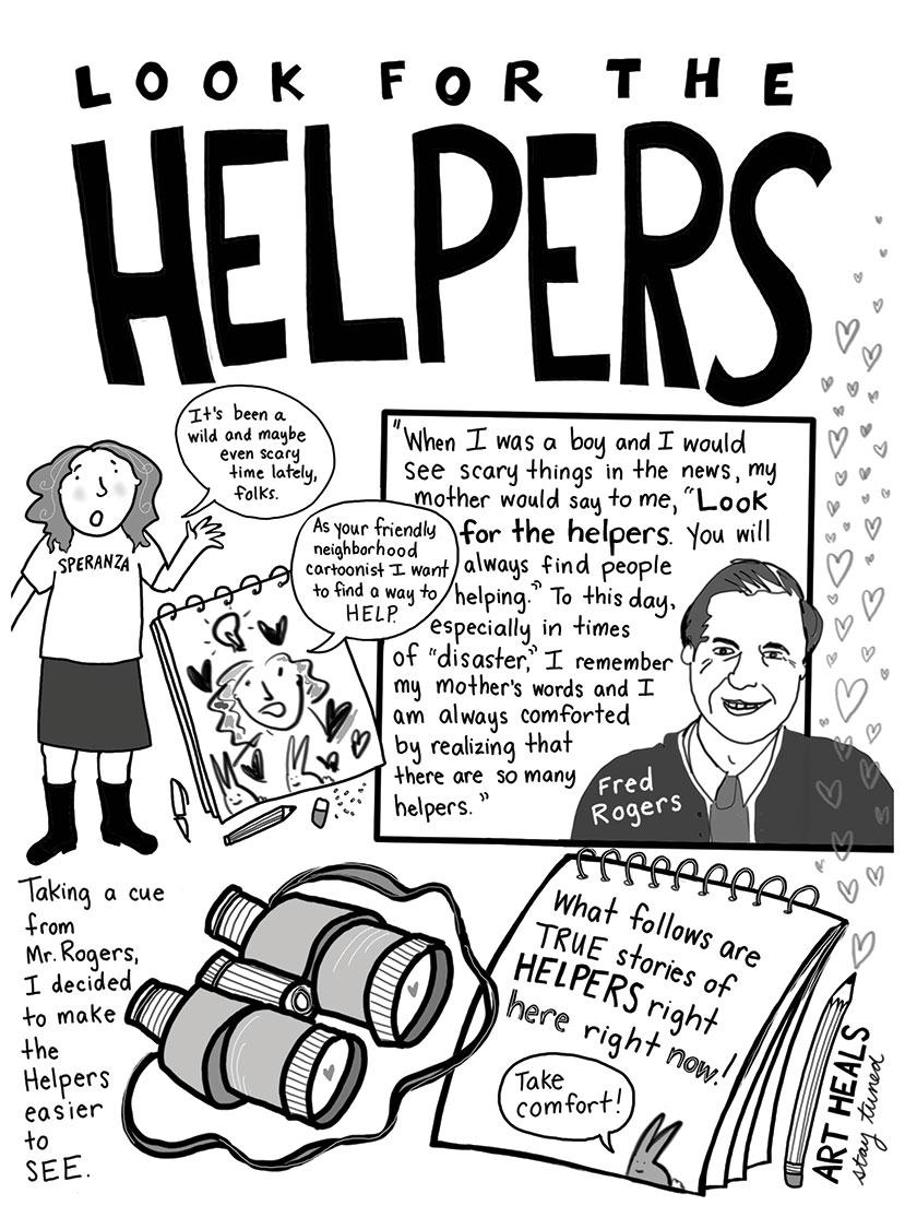 Helper's Mr. Rodgers cartoon