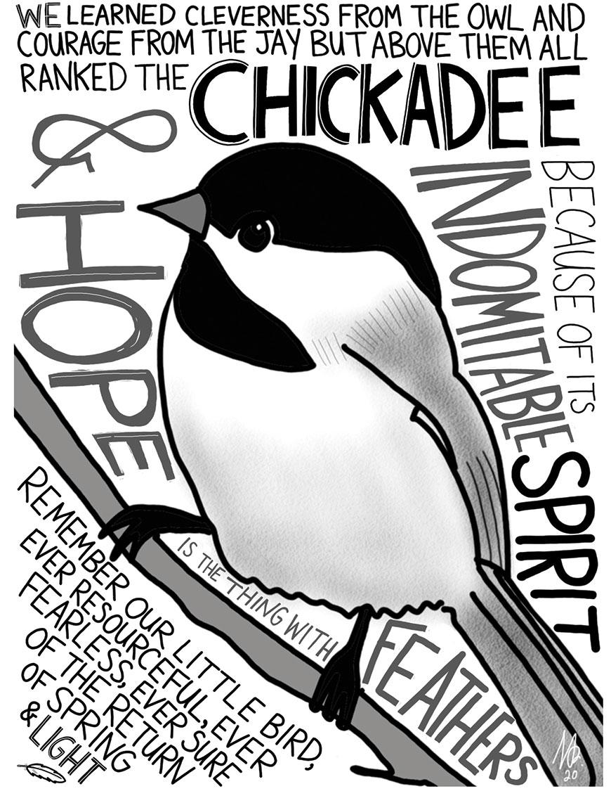 Helper's Chickadee cartoon