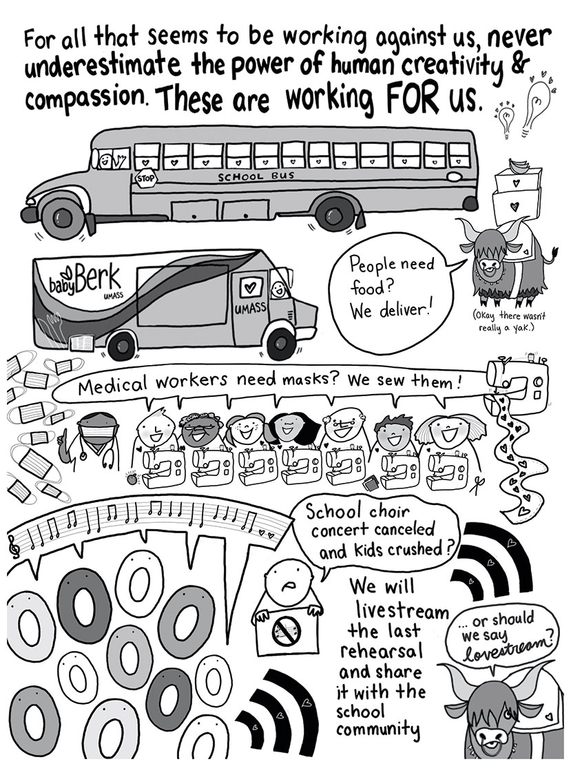 Helpers Music cartoon