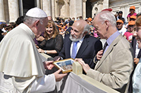 Pope Francis with Harold Kasimow