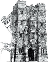 Drawing of Gates & Rawson tower