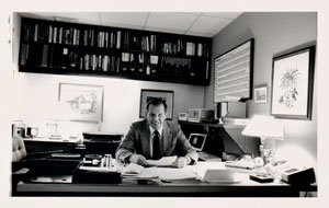 Wally Walker in his office