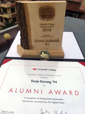 Alumni Award for Dorje Gurung