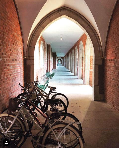 North loggia with bike