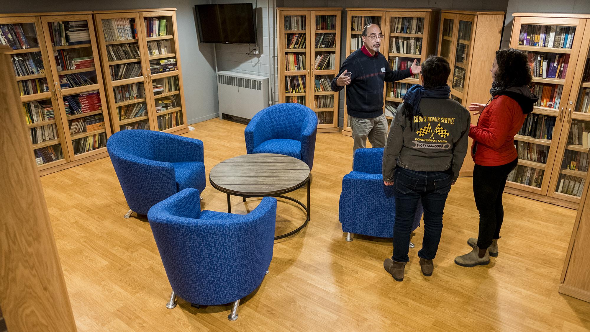 Tour of lending library during CRSSJ open house