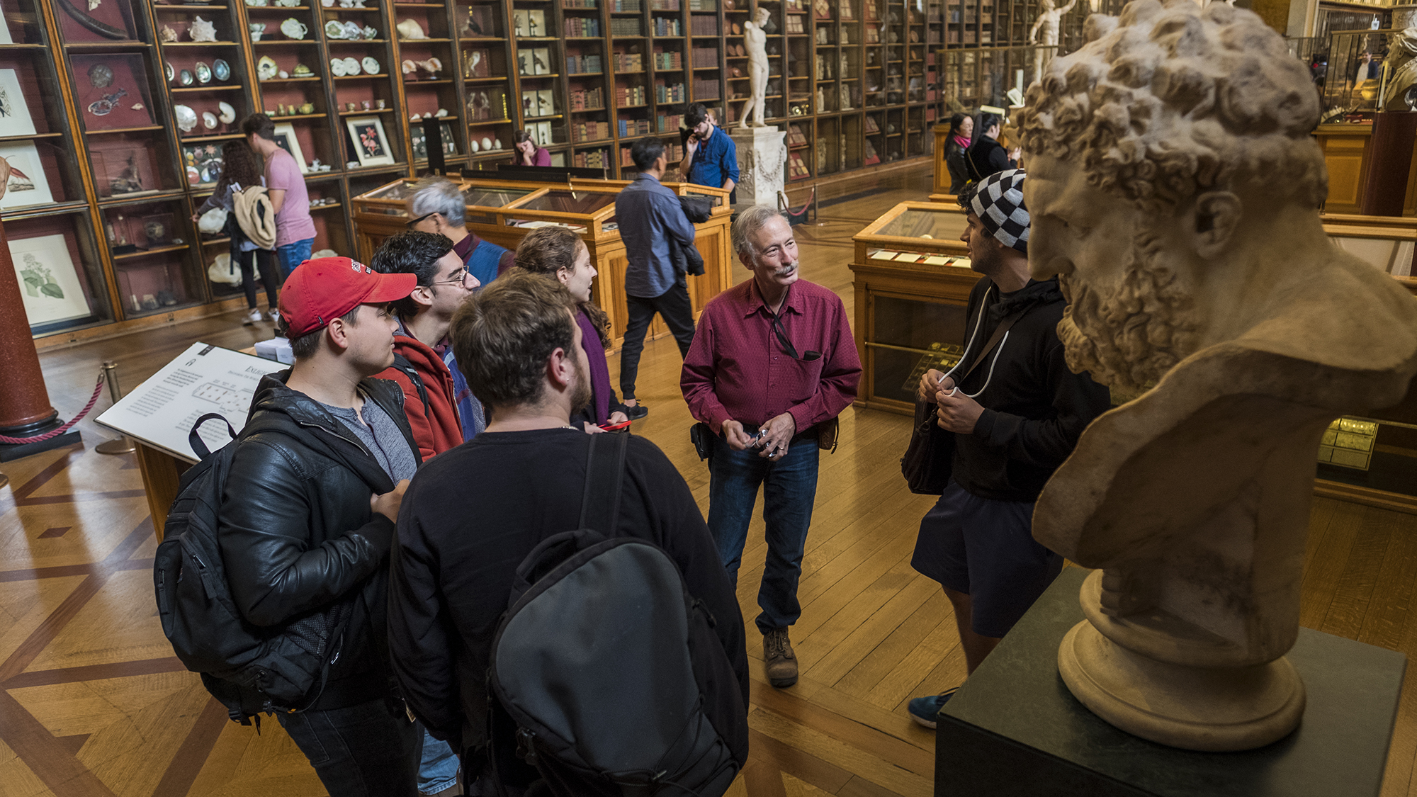 John Whittaker, professor of anthropology, took students to the British Museum while teaching in London during the fall of 2017.