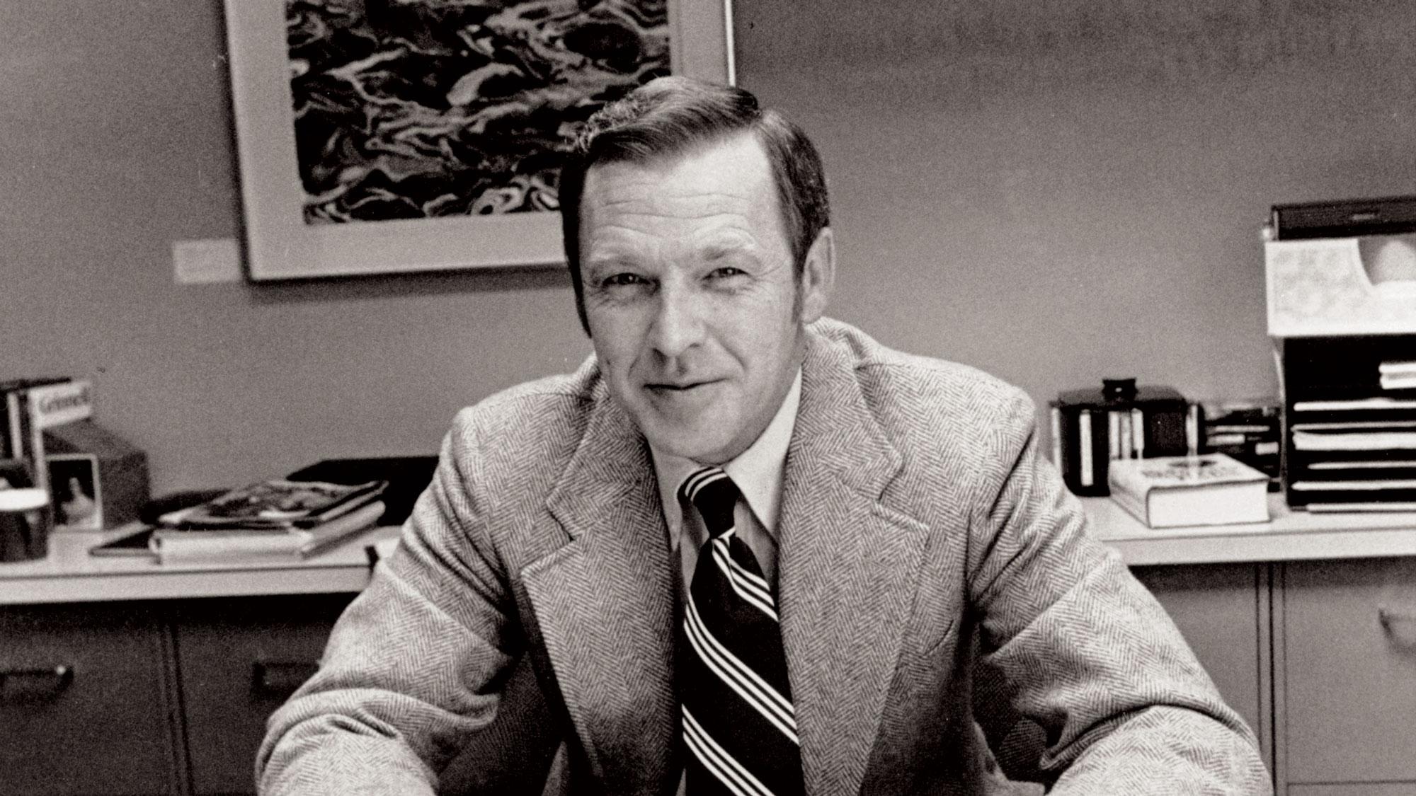 Wally Walker at his desk