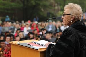 Celina Karp Biniaz '52 makes the 2018 commencement speech