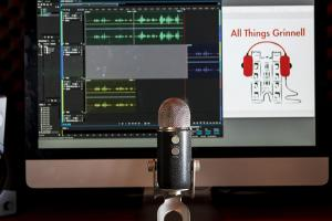 Microphone in front of computer