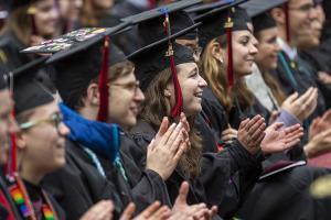 graduates clapping