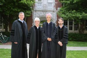 Thomas Cole '71, Claudia Swicher, zadie Smith, and Fred Hersch '77