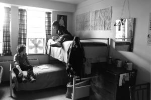 1977 Bunk-beds in North Campus Dorm